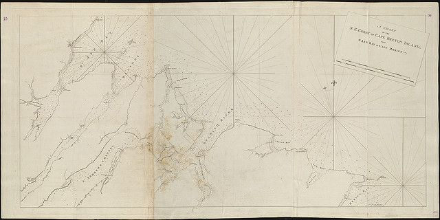 A chart of the N.E. coast of Cape Breton Island from St. Ann Bay to Cape Morien  by Norman B. Leventhal Map Center at the BPL, via Flickr