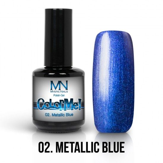 ColorMe! Metallic no.02. - Metallic Blue 12ml gel polish lakkzselé gél lakk nail art mystic nails
