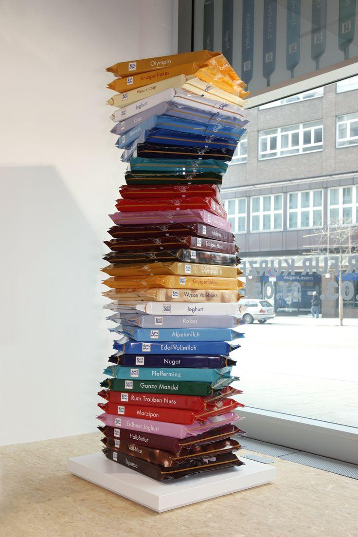 Ein bunter SchokoTurm ist natürlich auch im RITTER SPORT Pop Up #SchokoLaden #Hamburg. :-)