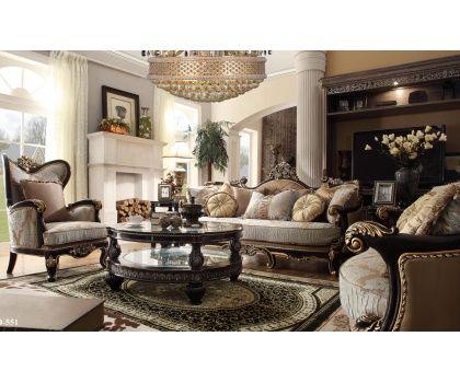 rustic grand victorian living room design | HDS- HD551 Victorian Era Design Grand With Accent Pillows ...
