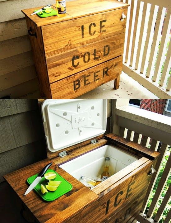 Repinned: Brooklyn Limestone: Steal this Idea*: Dresser Ice Chest Cooler