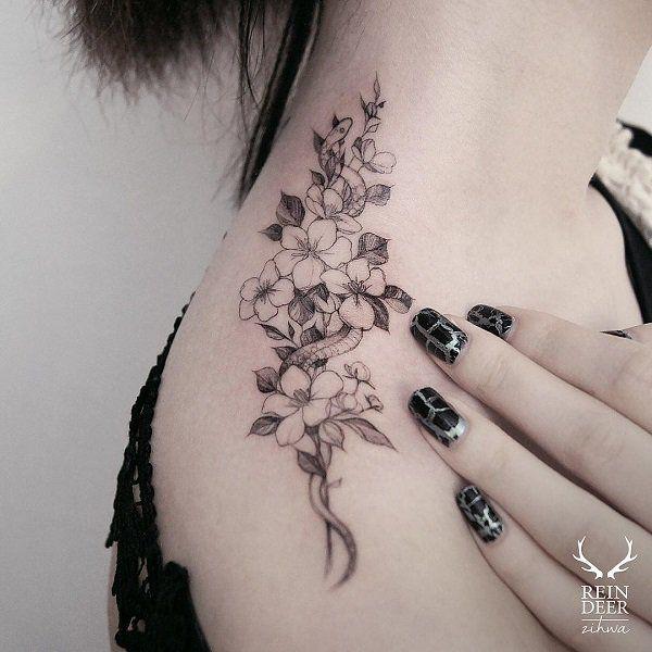 Flower shoulder tattoo - 55 Awesome Shoulder Tattoos <3 <3