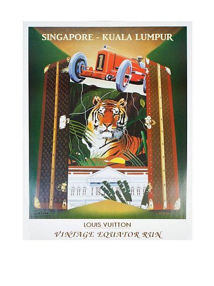 Signed Original Louis Vuitton Vintage Equator Run with Tiger, 1993, http://www.myhabit.com/redirect?url=http%3A%2F%2Fwww.myhabit.com%2F%3F%23page%3Dd%26dept%3Dwomen%26sale%3DA1H78U2K3DSVMK%26asin%3DB00B3P21HG%26cAsin%3DB00B3P7AHW