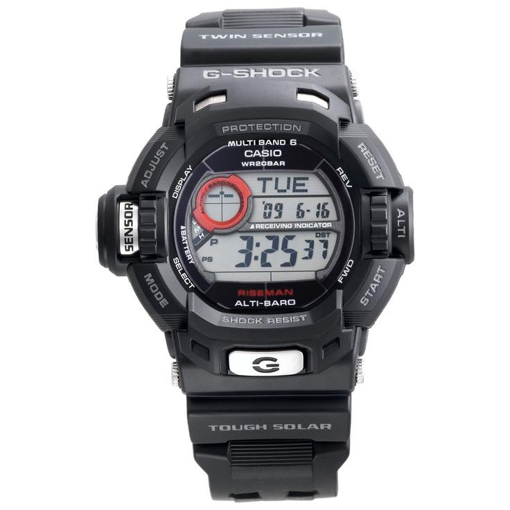 Casio Men's GW9200-1 G-Shock Riseman Alti-Therm Solar Atomic Watch