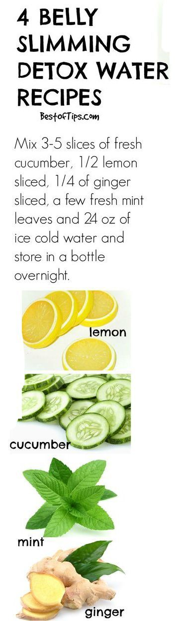 Natural belly slimming detox water recipes #detox http://ncnskincare.com/