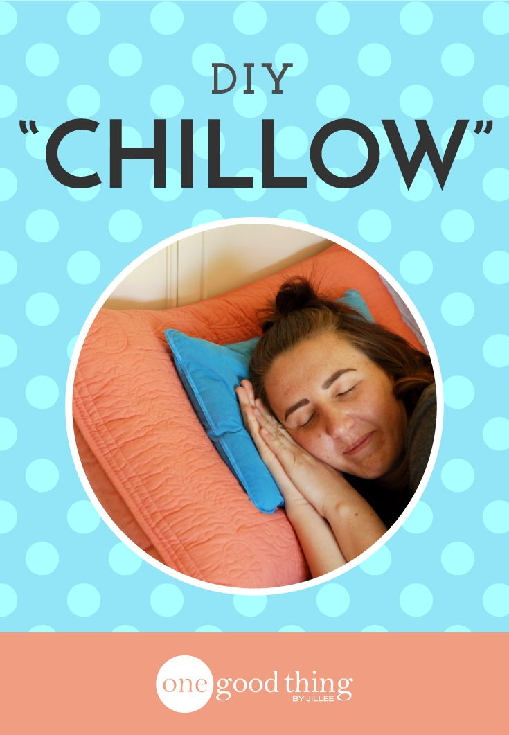 "See how easy and affordable it is to make your own ""chillow"" (chilled pillow) to keep your head cool during those hot summer nights."