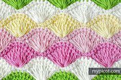Deniz Kabuğu Örgü Modeli Yapımı ,  #bebekbattaniyesimodelleri #freecrochetpattern #örgübattaniyemodelleri #tığişiörgümodelleri , Yine çok güzel bir model daha. Deniz kabuğu örgü modeli. Çok beğeneceksiniz. Renkleri iç açıcı. İnce iplikle de orta kalınlıktaki bir ip...