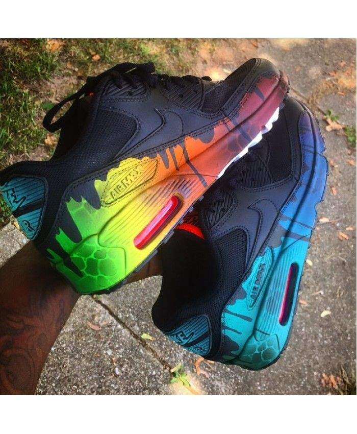 the latest d9339 3b02f Cheap Nike Ari Max 90 Candy Drip Black Colorful Sale