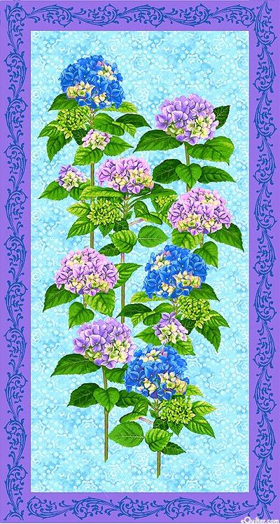 12 best quilted hydrangea images on Pinterest | Hydrangea ... : hydrangea quilt fabric - Adamdwight.com