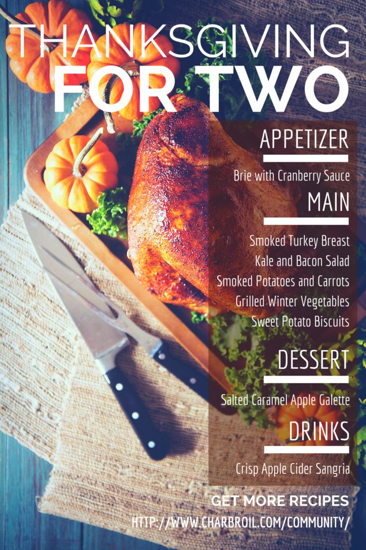 Thanksgiving for Two Menu