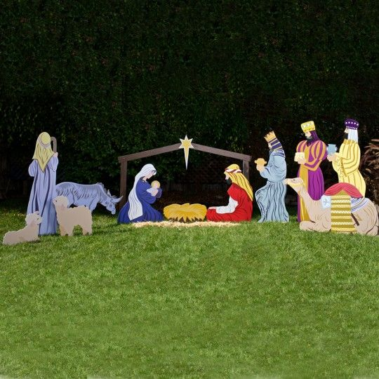 Outdoor Nativity Store's Large Classic Outdoor Nativity scene Full Set