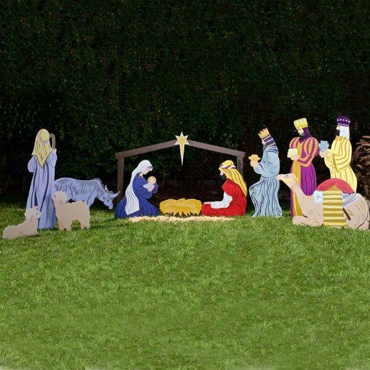 Outdoor Nativity Store's Large Classic Outdoor Nativity scene Full Set