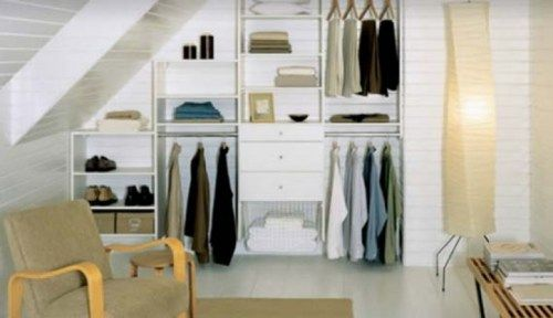 Idea for pitched roof closet