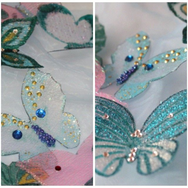Бабочки для платья Золушки в процессе.