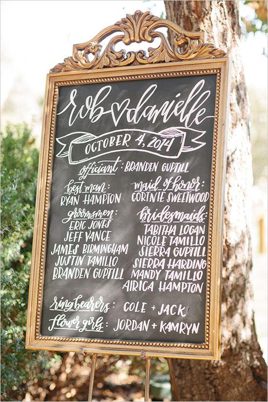 Wedding Signage - Ceremony Program #meetthehamptons  @weddingchicks