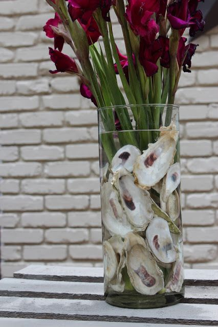 Southern State of Mind: {Oyster Hysteria} Oyster Shell Flower Arrangement