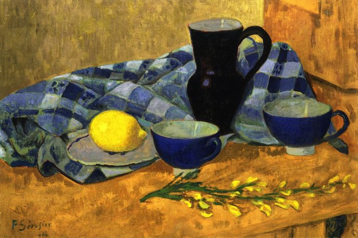 Still LIfe with Lemon and Blue Bowls Paul Serusier - 1914