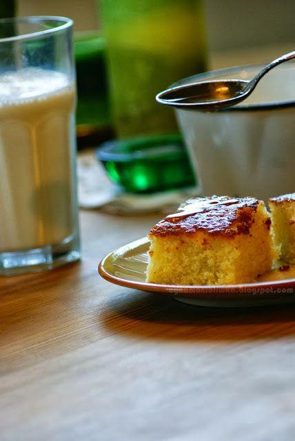 Cynamon i oliwka, czyli garść myśli i przepisów: Ciasto z cytrynową mżawką i ciepło.