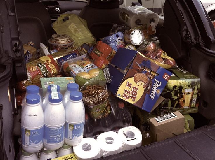 Un max de provisions pour le voyage !