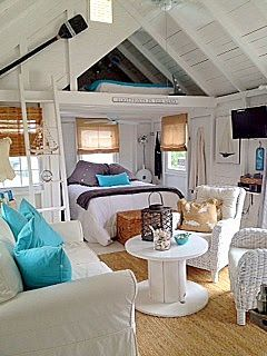 I like little houses but not the ones that you have to climb a ladder to go to bed! This one has a ground floor area for a bed. I would use the loft for storage...