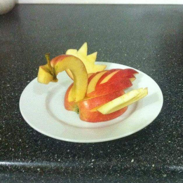 #foodart #healthy #apple #swan #healthy