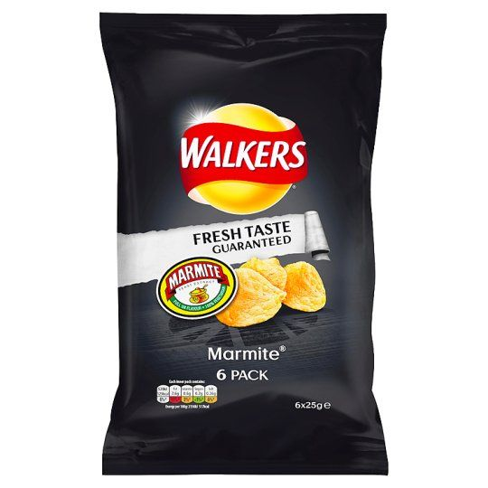 Walkers Marmite Crisps 6X25g - Groceries - Tesco Groceries