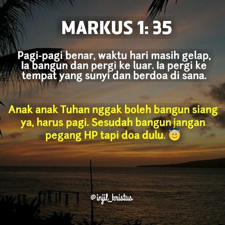 Anak Anak Tuhan Gak Boleh Bangun Siang Lagi Tuhan Yesus Sudah