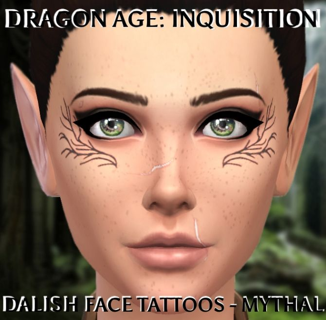 Dragon Age Inquisition Dalish Tattoo by clalobaciel at Mod The Sims via Sims 4 Updates  Check more at http://sims4updates.net/tattoos/dragon-age-inquisition-dalish-tattoo-by-clalobaciel-at-mod-the-sims/