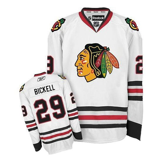 7dffd7fa1 ... Chicago Blackhawks 29 Bryan BICKELL Road Jersey - White ...