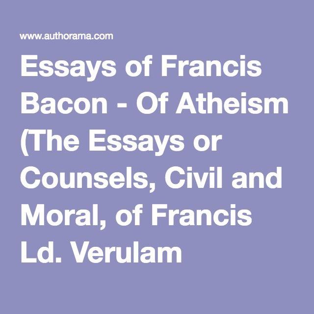 bacons essay the best francis bacon essays ideas francis francis