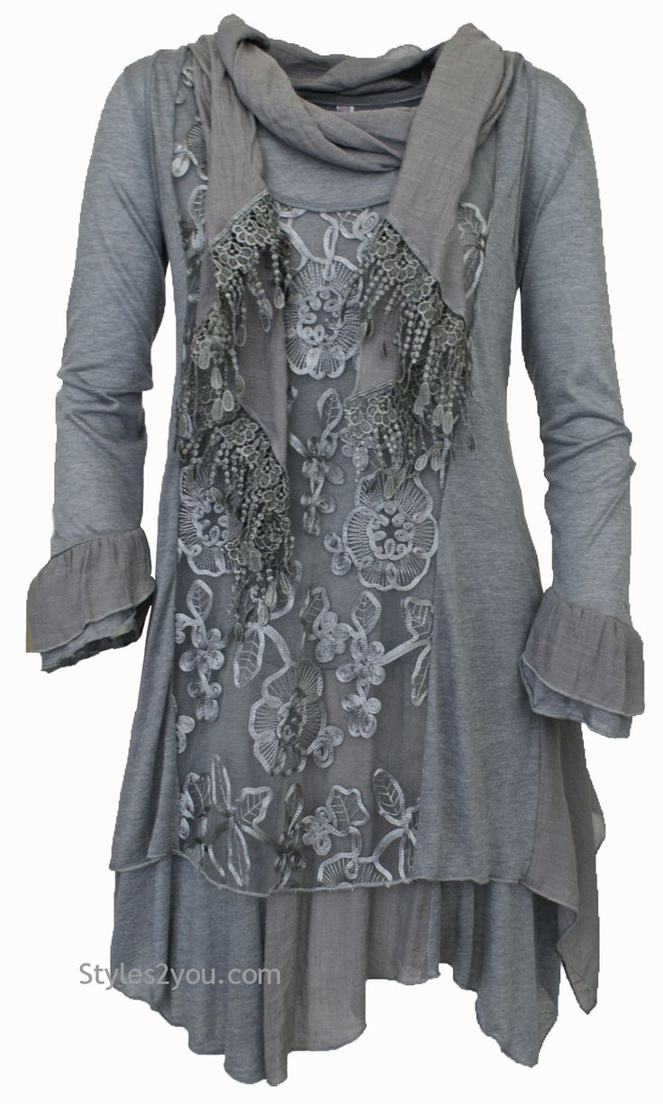 Mattie Three Piece Vest Dress Tunic In Gray#gorgeous #beyourself #inspiration #unique #boutique #vintage #lace #hi #womenclothing #love #pretty #girl #selfie #fashion #beyourself #online