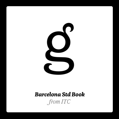 ITC Barcelona Std Complete Pack. #fonts #typography