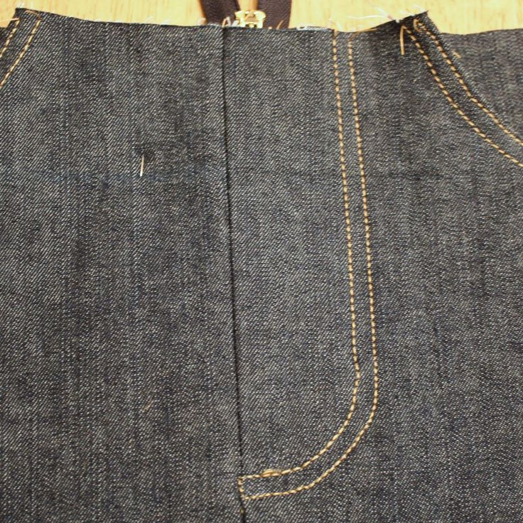 How to sew a denim skirt tutorial based on a skirt you already own.