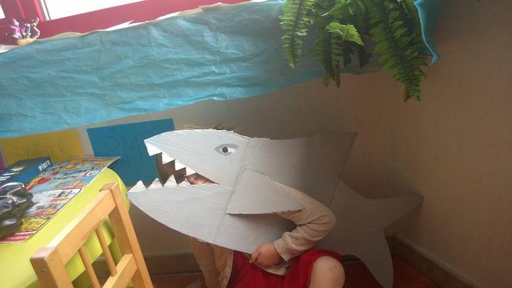verkleden als haai!