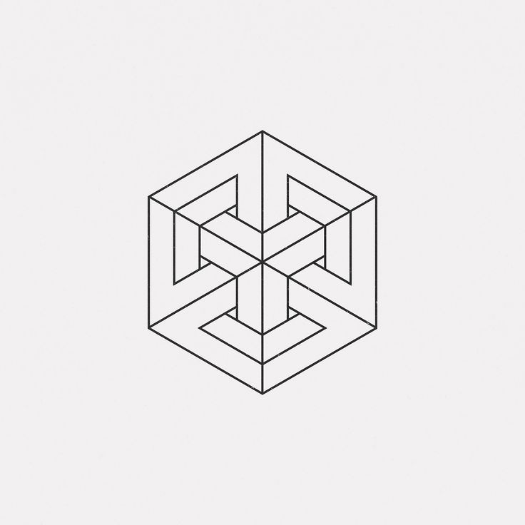 geometric drawing shapes dailyminimal cool graphic geometry minimal lines ap17 optical simple shape pattern every geometrico mirror april words google