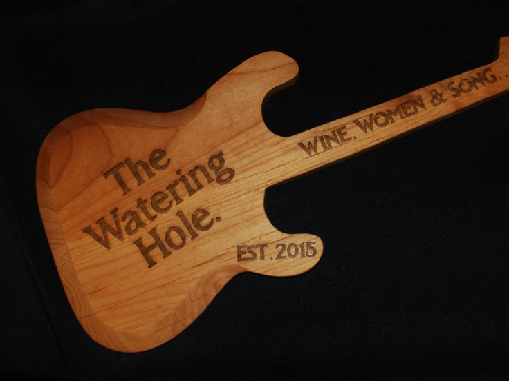 Custom made, hand carved, personalized Guitar, Guitar sign, custom sign, guitar player gift, bar sign, home bar by MemoriesMadeToronto on Etsy