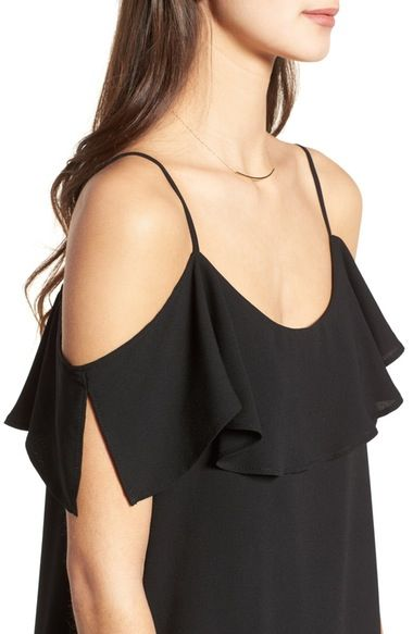 Main Image - One Clothing Ruffle Cold Shoulder Dress
