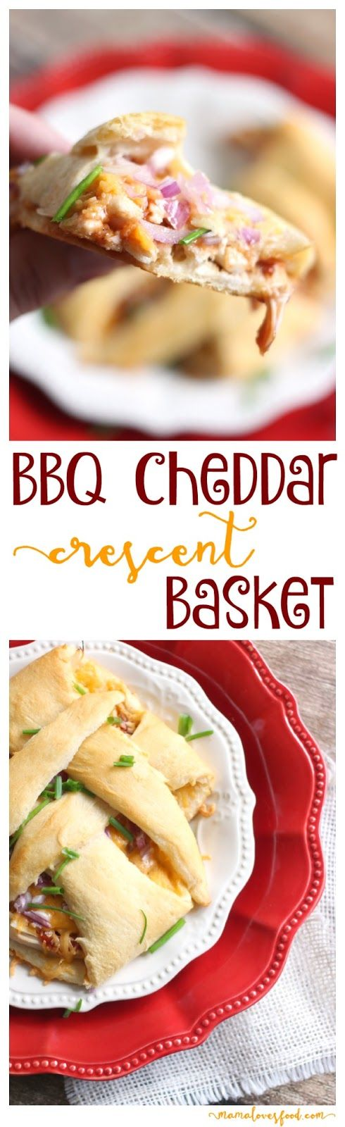 Barbecue Cheddar Crescent Baskets.  These are easy to make and great for a hungry dude or dudette :-D #NaturallyCheesy #ad