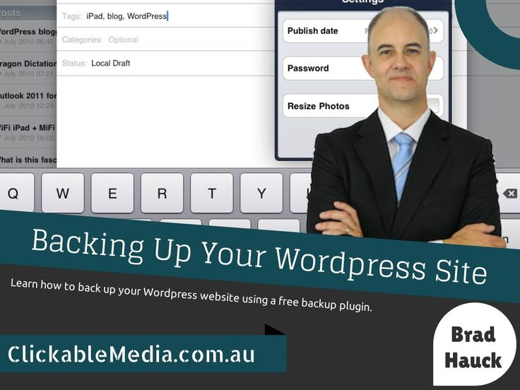 How to Create a Wordpress Backup using a Plugin with Brad Hauck