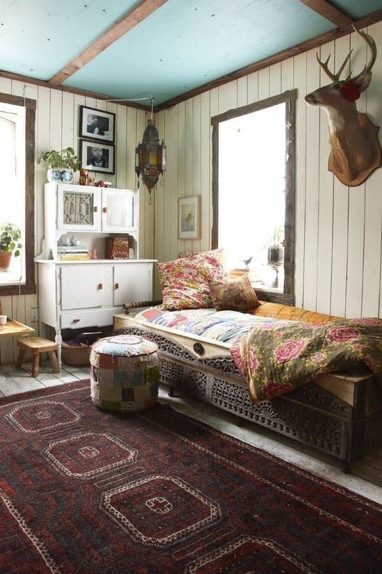 If you love the bohemian look — or you're just looking to add a little color or texture or pattern to your sleeping space — you'll find plenty of inspiration in this set of ten eclectic bedrooms