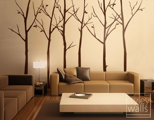 Tree Wall Decal Wall Stickers Forest Winter Trees by styleywalls, $95.00