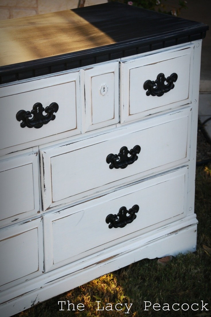 ideas about White Distressed Dresser on Pinterest White
