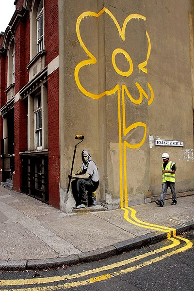 A disused building in Mayfair has become the latest target on the street artist…