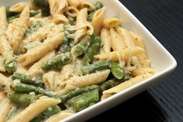 Creamy Lemon Dijon Pasta with Asparagus | happiness | Pinterest