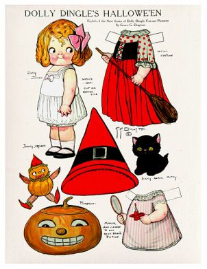 ALTERED ARTIFACTS: Halloween Paper Doll Free PrintableDolly Dingle Witch Paper Doll