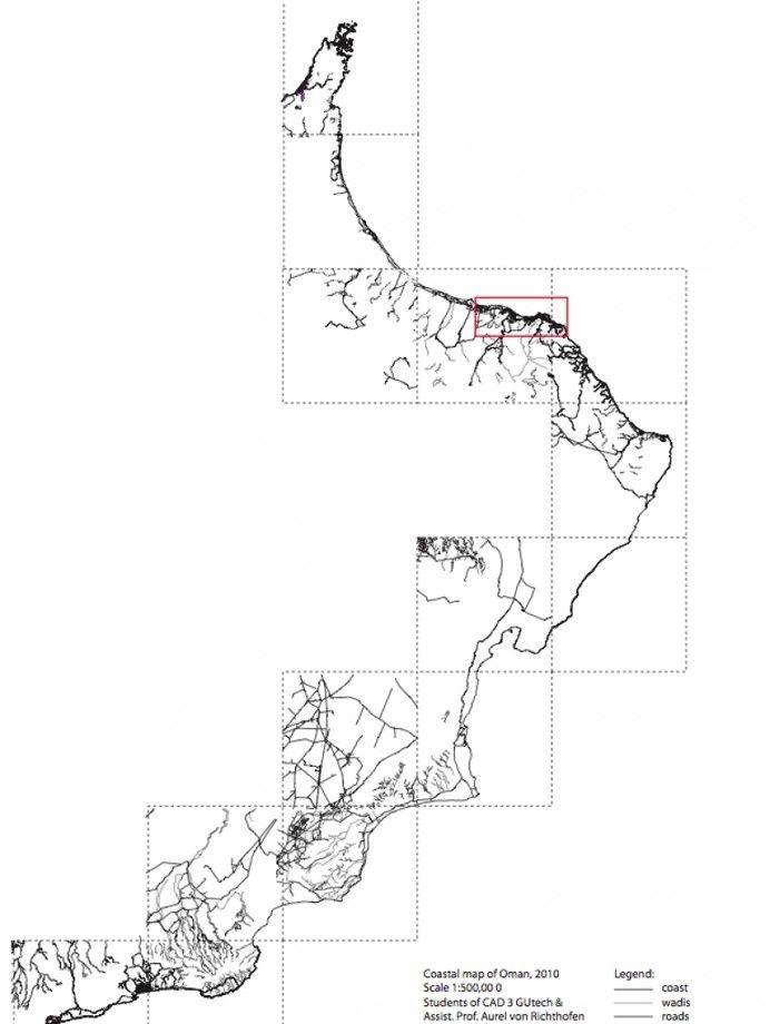 GIS mapping project - Coastline Oman