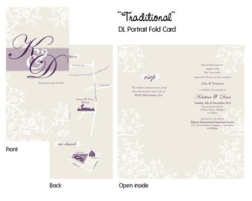 Traditional - Portrait Fold DL Wedding Invite