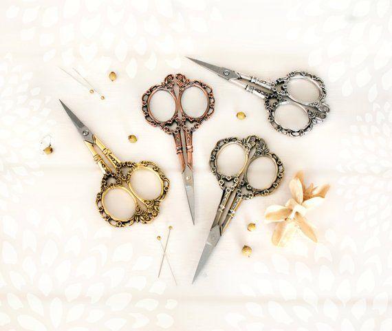 perfect gift embroidery scissor sewing supplies Stainless Steel Scissors look Antique scissor GOLD Sewing scissor decorative scissor