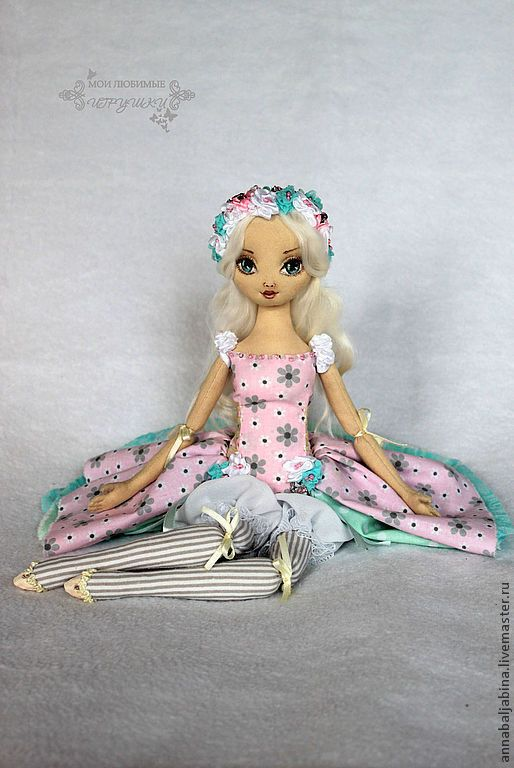 Collectible Dolls handmade. Livemaster - handmade. Buy Camellia, author's textile doll, movable doll handmade.Pink
