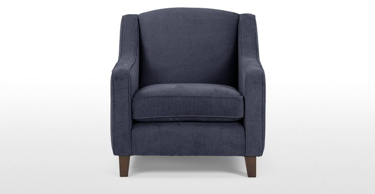 Halston Armchair in midnight blue | made.com